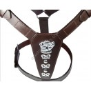 Extra Large brown LEATHER DOG HARNESS