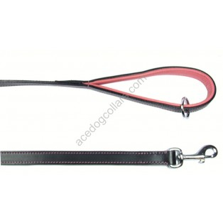 "Leather Lead with a PADDED leather handle - length 110 cm (44"")"