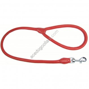 "Rolled super soft  LEATHER LEAD length  44"" (110cm)"