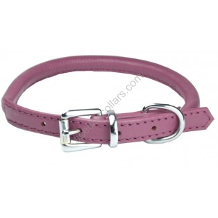 Super Soft Best Rolled Leather Dog Collar :Purple (Limited Edition)