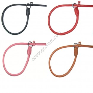 "Super Soft Best Rolled Slip Leather Lead: Overall Lenght is 110 cm (44"") Thickness 8mm"
