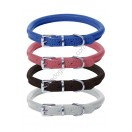 Ace Rolled Super SOFT Leather Dog Collar (Blue, Pink, Black, White, Orange)