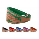 Ace Traditional Leather Hand-crafted Dog Collar: 6 Colours