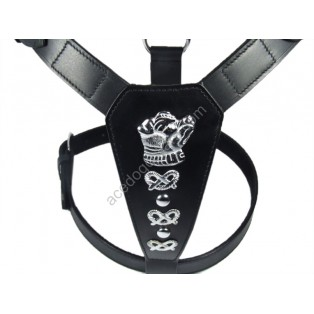 Extra Large LEATHER DOG HARNESS