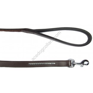 "COMFY Leather Lead with a PADDED leather handle - length 110 cm (44"")"